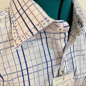 Bugatchi Uomo Long Sleeve Dress Shirt NWT